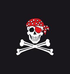 jolly roger flag vector image