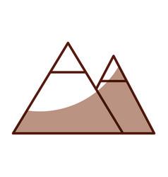 shadow mountain cartoon vector image vector image
