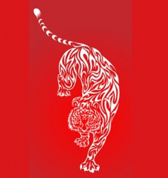 tiger tattoo 2 red vector image vector image