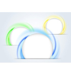 Abstract colorful rings forming a 3d background vector image vector image