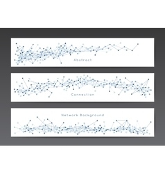 Abstract network banner templates vector image vector image