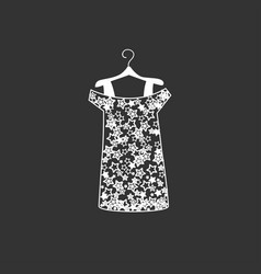 dress silhouette vector image vector image