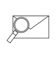 email and magnifier envelope message find vector image