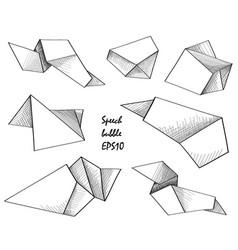 flying empty sheet of paper doodle speech frame vector image vector image