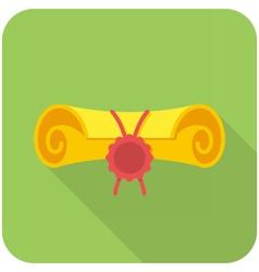 School diploma icon vector image vector image