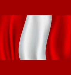 3d realistic wavy peru flag peruvian symbol vector image