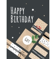 A bright for birthday vector image