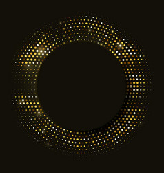 abstract black background with retro golden vector image