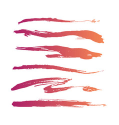 Abstract grunge curly handmade pink brushes vector