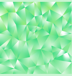 Abstract irregular polygonal background green vector
