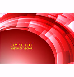 Abstract red geometric square curve background vector