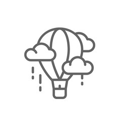 air balloon aerostat dirigible line icon vector image