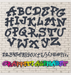 alphabet graffity alphabetical font abc by vector image