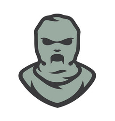balaclava zombie mask cartoon vector image