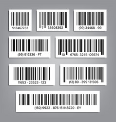 Bar code set upc bar codes universal vector