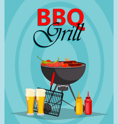 barbecue party bbq grill vector image