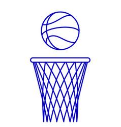 basketball ball and hoop vector image