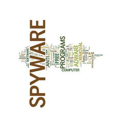 Best free spyware remover text background word vector