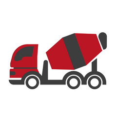 Bulk cement transport unit icon flat art design on vector