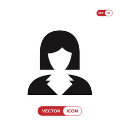 business woman icon avatar symbol female sign vector image