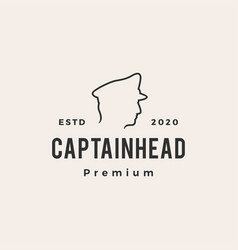 captain hipster vintage logo icon vector image