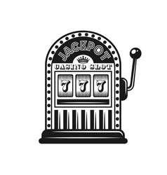 casino slot machine monochrome style object vector image