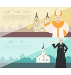 Catholic Church Banner vector image