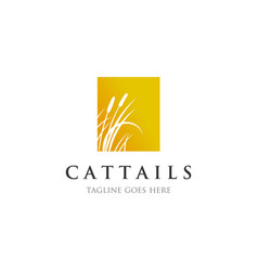 cattails reed logo designs inspirations vector image