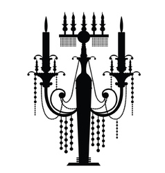 Chandelier silhouettes vector image vector image