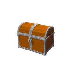 chest 3d object vintage icon isolated white vector image