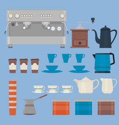 coffee making equipmentisolated objectscoffee vector image