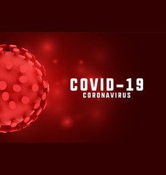 Coronavirus covid19 outbreak background in red vector
