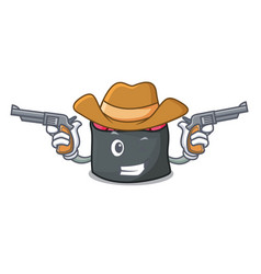 cowboy ikura character cartoon style vector image
