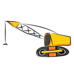 crane hand drawn design on white background vector image