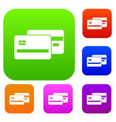 credit card set collection vector image