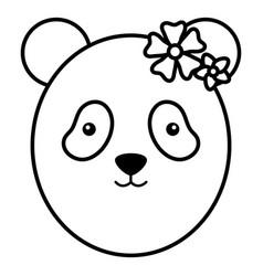 cute female bear panda childish character vector image