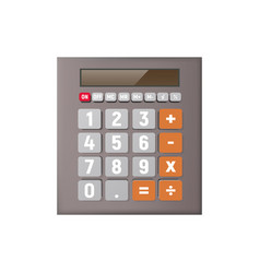 design of the calculator on a white background vector image
