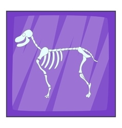 Dog skeleton icon cartoon style vector