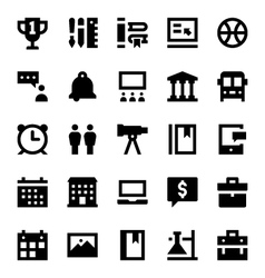 Education and School Icons 10 vector