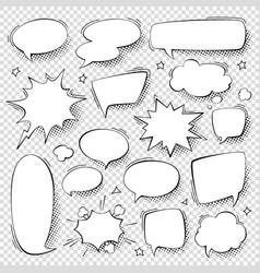 empty speech bubbles in pop art style for comics vector image