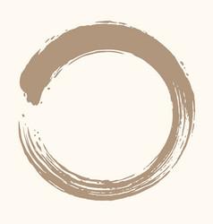 enso zen circle brush design vector image