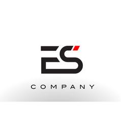 es logo letter design vector image