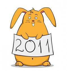 fat rabbit vector image