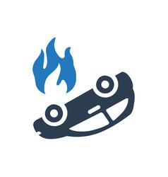 Fire insurance icon vector