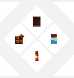 flat icon bitter set of dessert sweet bitter and vector image