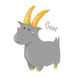 Goat isolated Sticker for kids Child fun icon vector