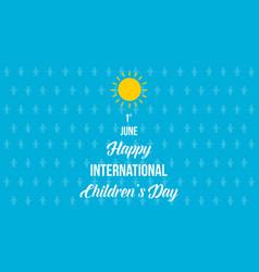 Happy international day background vector