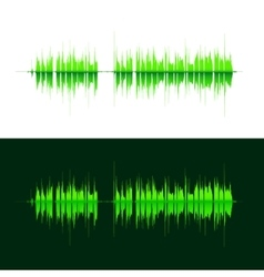 HQ sound waves Music waveform green vector