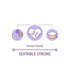 Human capital concept icon vector