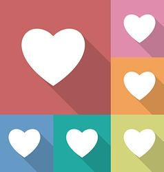 Icon of heart vector image